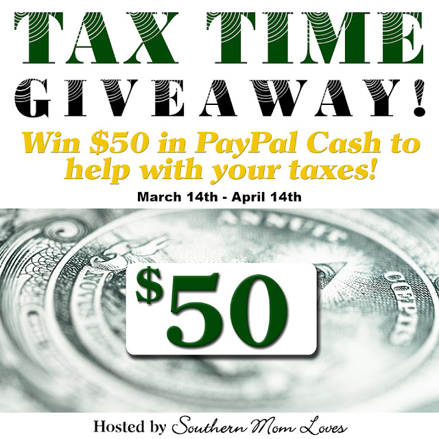 Enter today to win $50 in PayPal Cash!  Tax Time Giveaway!