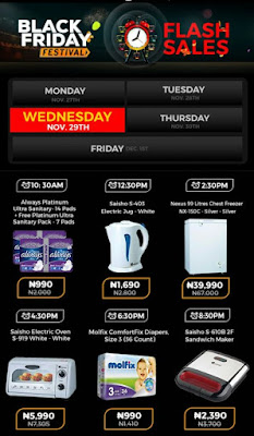 Jumia Black Friday Festival Day 17 Deals 29th November 2017