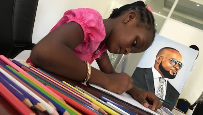 Watch: 9 Years Old Kenyan Supertalented Female Artist, Sheillah Sheldone Charles Taking Kids Drawings To The Next Level