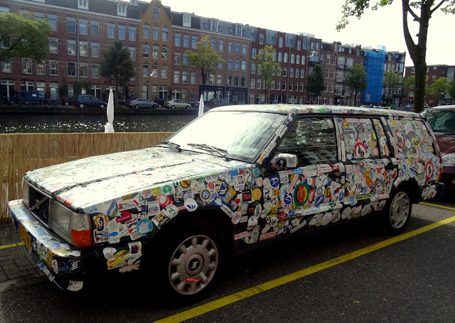 Car full of stickers