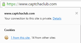 Captcha club SSL certification