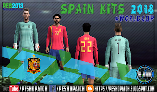 Spain World Cup 2018 kits for PES 2013