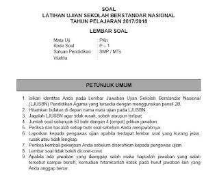 Soal USBN PKn SMP MTs 2018 Beserta Kuncinya