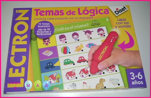 lectron, juguetes, juegos de logica, 3-6 años, juegos educativos, diset