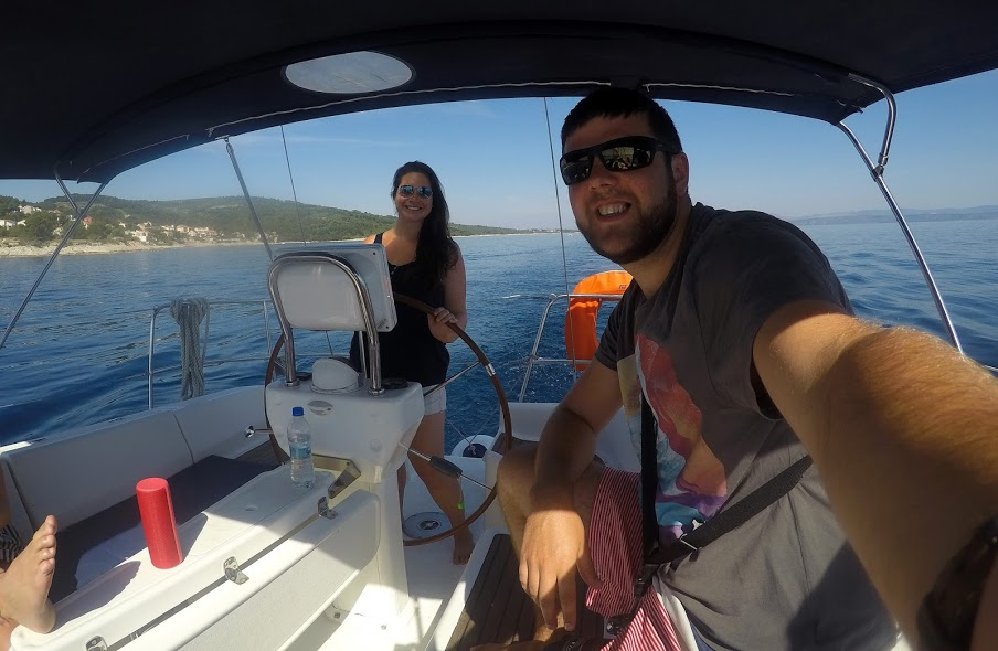 Couple Sailing in Croatia