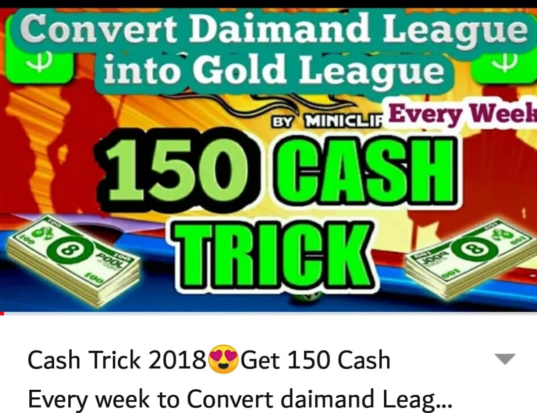 Cash Trick 2018 Get 150 Every Week To Convert Daimand League Into Gold