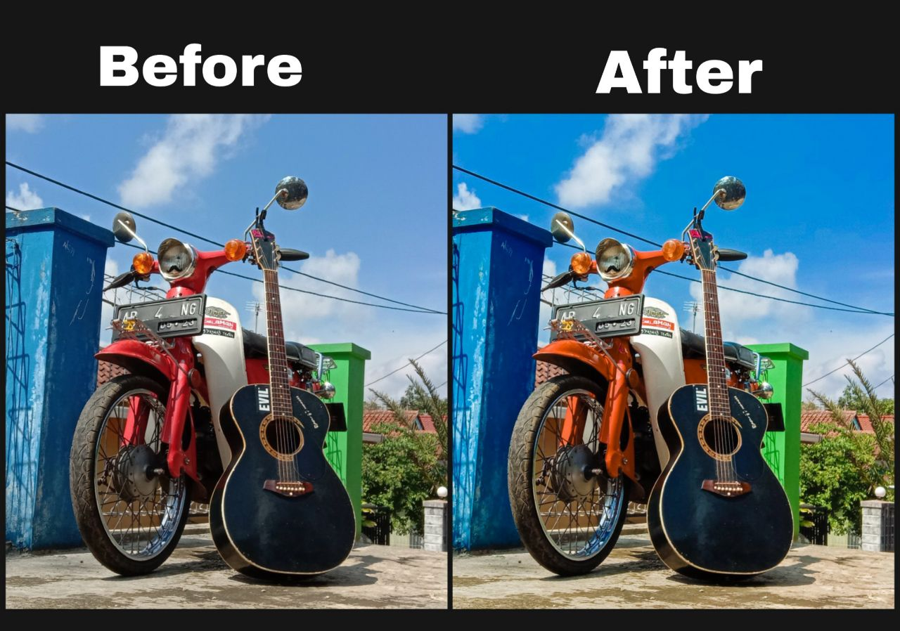 Tutorial Edit foto Aqua and Brown di Lightroom Android