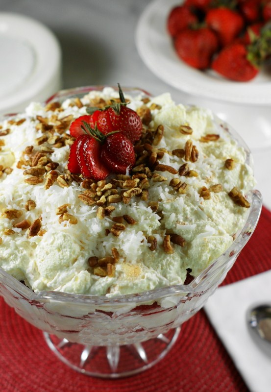 Strawberry Punch Bowl Cake With Condensed Milk