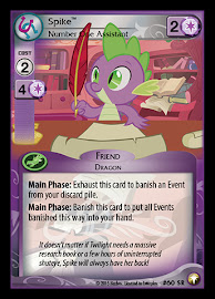 My Little Pony Spike, Number One Assistant Equestrian Odysseys CCG Card