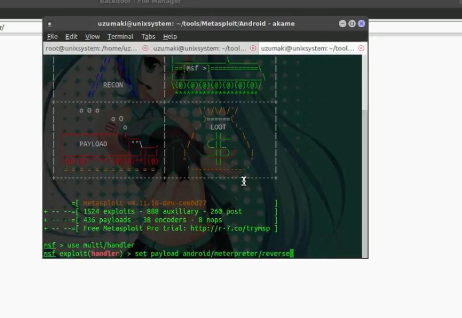 Tutorial Hack Android dengan Metasploit di BackBox Linux