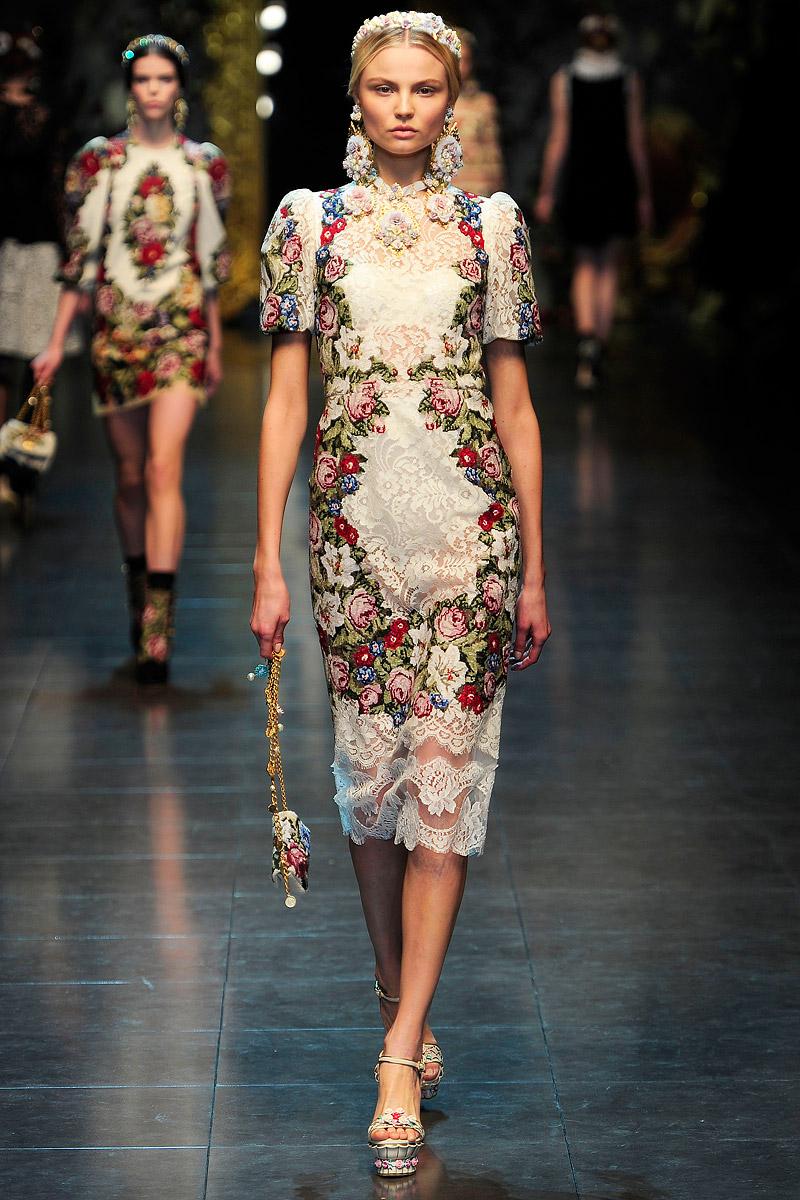 2012 Fall 2013 Winter Nail Polish Trends: My BEADialogy...: Dolce N Gabbana Fall 2012 RTW Part1 (the