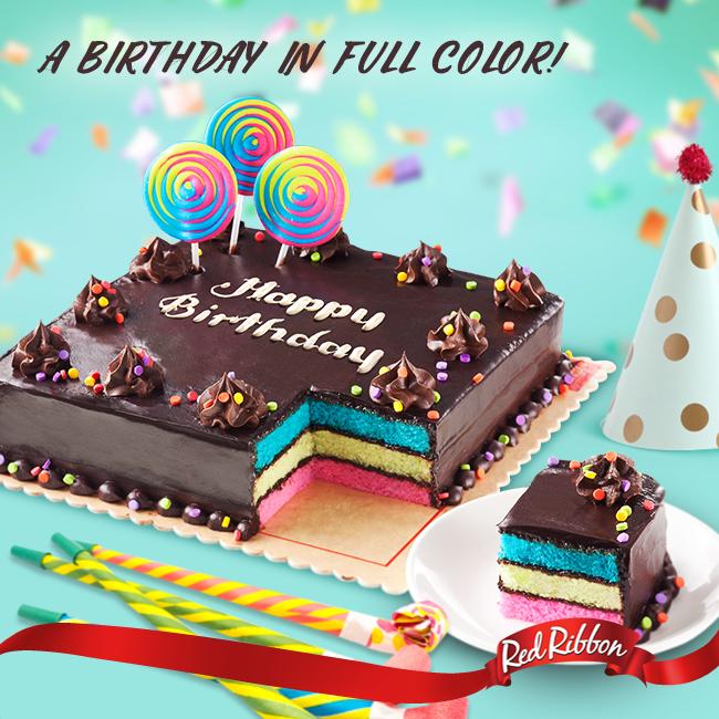 Diggdavao Red Ribbon Rainbow Dedication Cake Redribbon