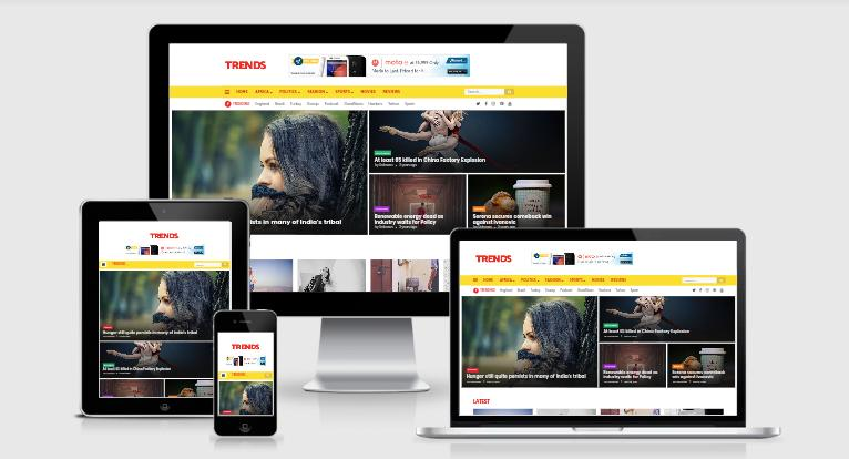 Trends Magazine Blogger Template Free Download