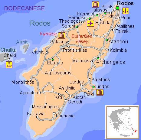 kart over rhodos by Rhodos   Romantikkens Øy ~ FrkBilmerke's Reiseblogg kart over rhodos by