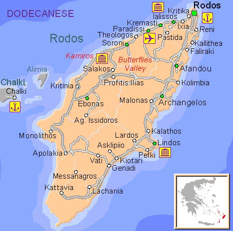 kart over rhodos ixia Rhodos   Romantikkens Øy ~ FrkBilmerke's Reiseblogg kart over rhodos ixia