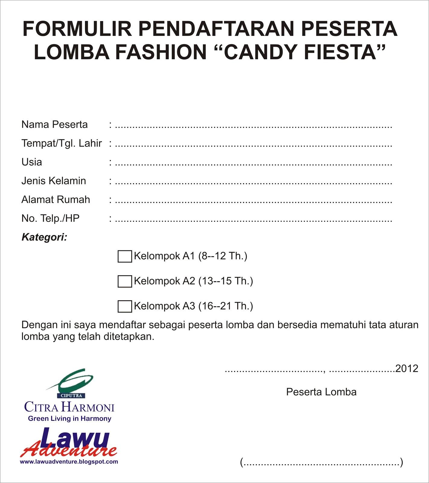 Lomba Fashion Candy Fiesta