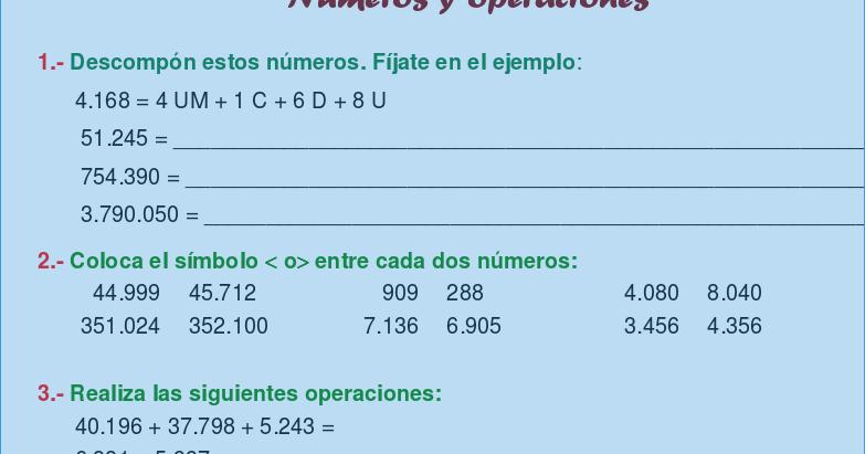 Ejercicios De Matematicas Para Sexto Grado Cuaderno Completo Pdf Aula Virtual Primaria