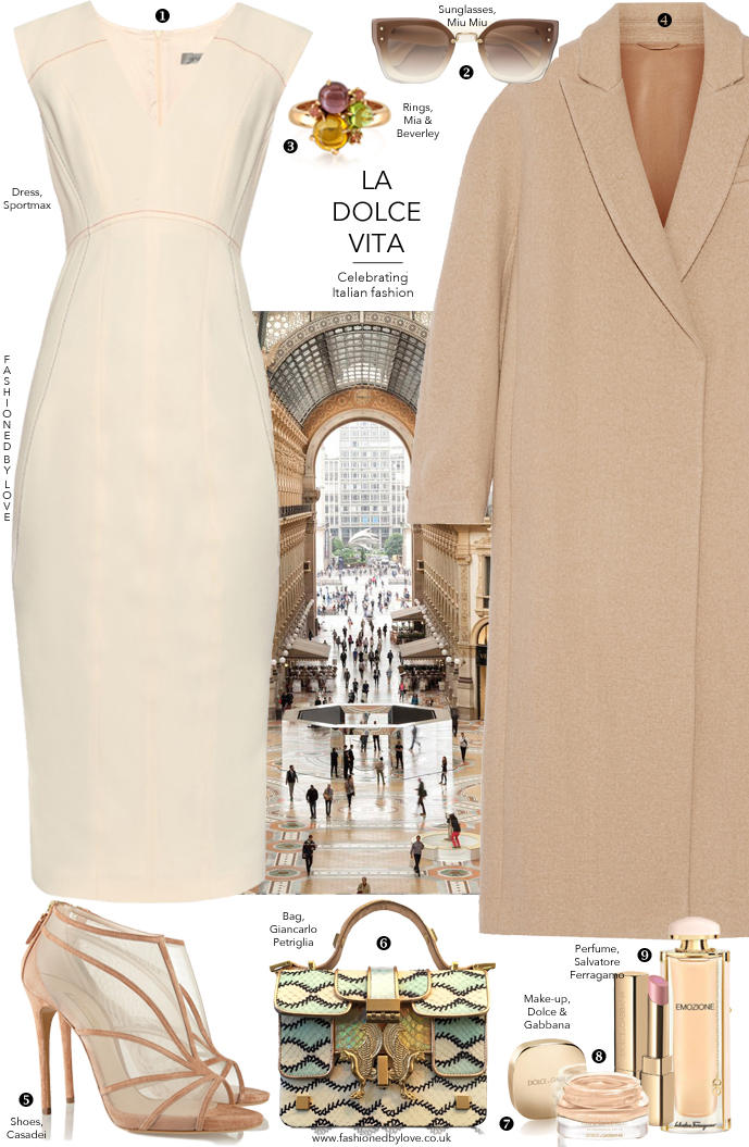 Another outfit idea inspired by Milan fashion week and Italian fashion designers and brands, and styled with Sportmax, Casadei, Brunello Cucinelli, Salvatore Ferragamo, Dolce & Gabbana, Miu Miu and more via www.fashionedbylove.co.uk, style & fashion blog
