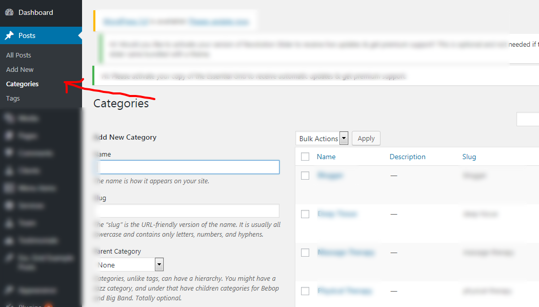 First you need to create category for different type of posts. You need to  enter category name 1bc51a96abf