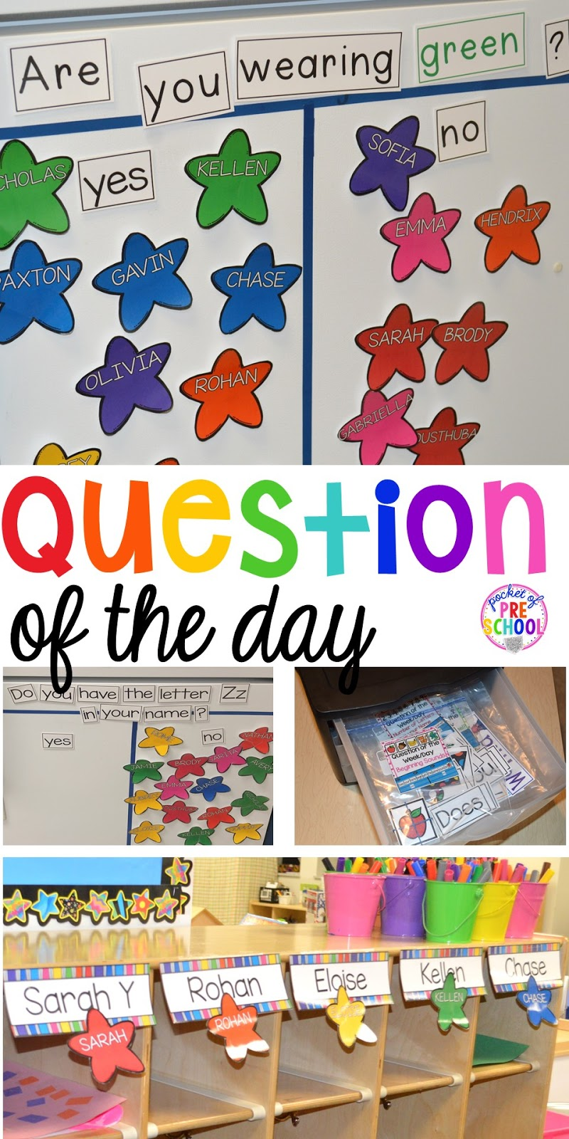 question of the day pocket of preschool
