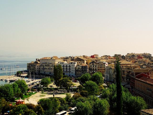 Kerkira - Stare Miasto, widok ze Starej Twierdzy
