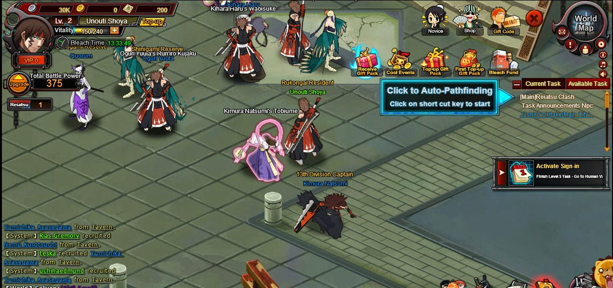 Bleach Online - Free RPG Game at Gogames.me (Getting ...