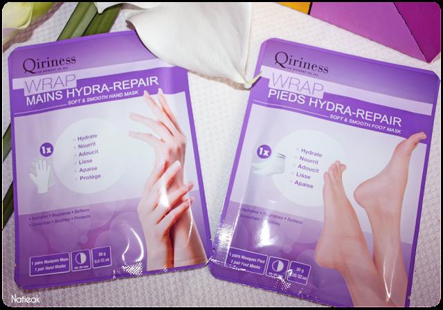 Masque Wrap Hydra-repair mains et pieds  de Qiriness