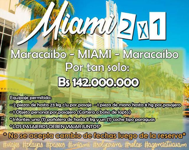 imagen Boleto aéreo internacional Miami 2x1  desde Maracaibo