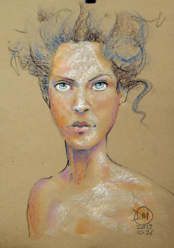 A3 pastel sketch by David Meldrum, 20131027