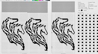 Схема плетения лошади из бисера