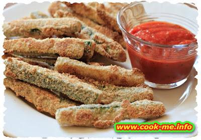 Bread crumbed zucchini