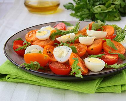 Tomato egg salad