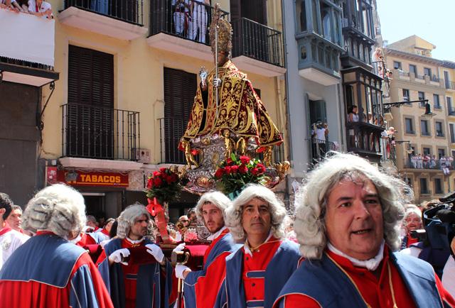 La Procesión de San Fermín, en la calle Jarauta de Pamplona