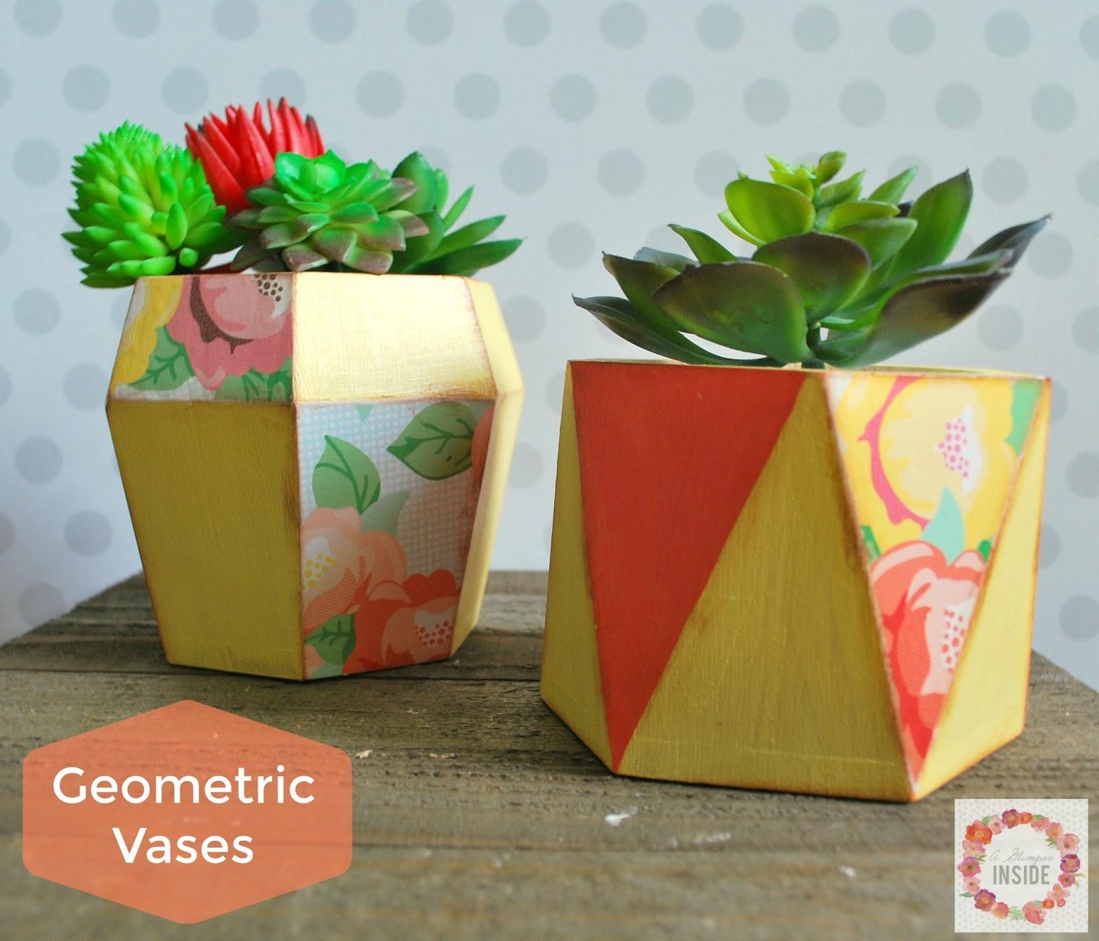 http://www.aglimpseinsideblog.com/2016/07/geometric-vases.html