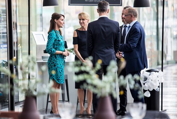 Danish Princess Marie wore her Charlotte Sparre dress at the opening of the Copenhagen Cooking & Food Festival