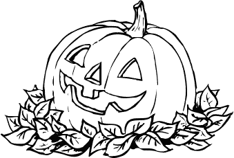 Halloween colorings for Coloring pages of jack o lanterns