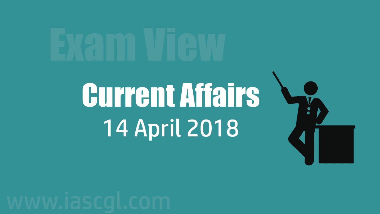 Current Affair 14 April 2018