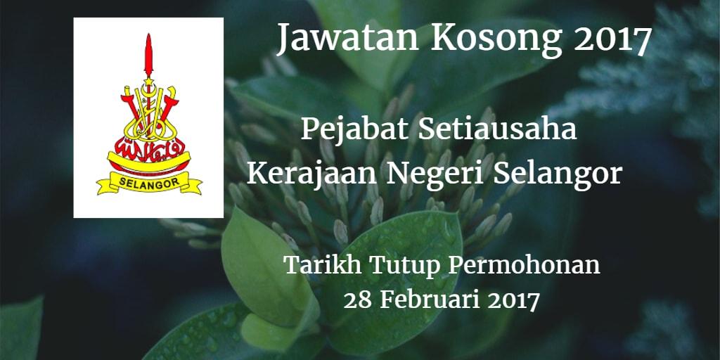 Jawatan Kosong SUK Selangor 28 Februari 2017