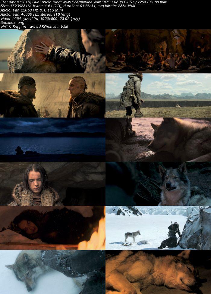 Alpha (2018) Dual Audio Hindi ORG 1080p BluRay x264 1.6GB ESubs Movie Download