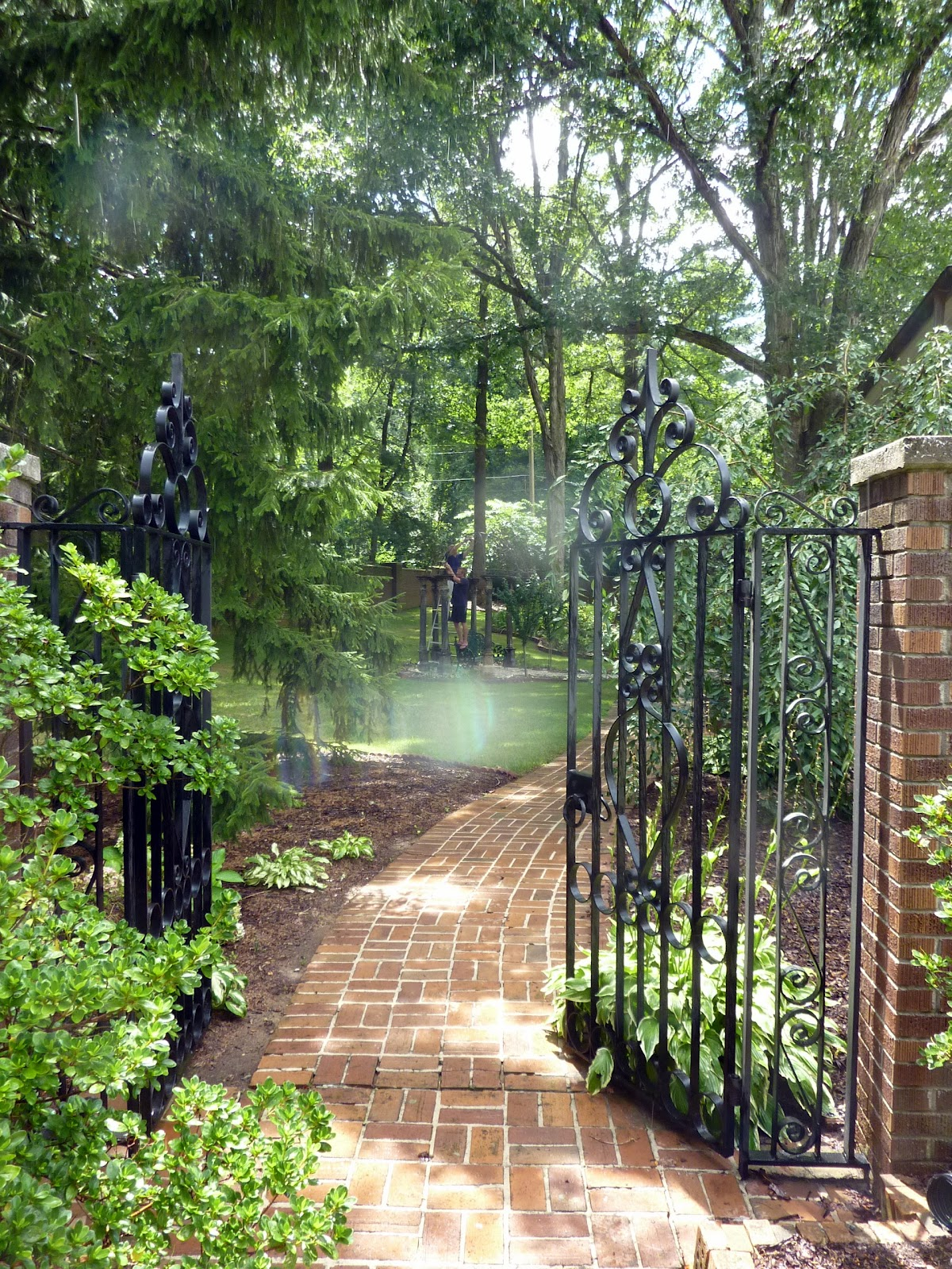 Garden Gate Into The Yard Where Our New/old Garden Arbor Was Originally  Placed In Ashville, N.C.