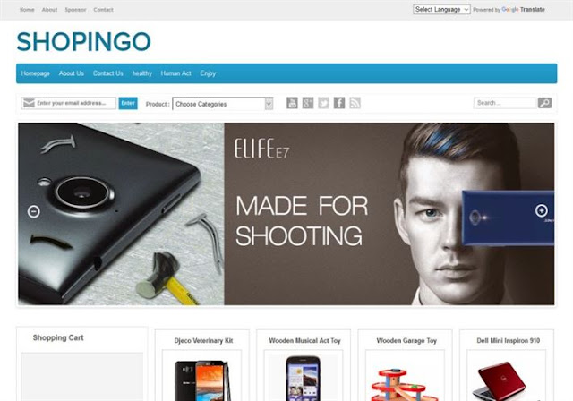 Shopingo Blogger Theme