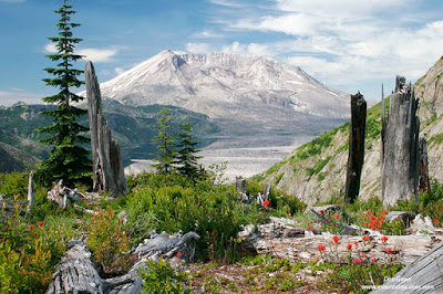 Mount St. Helens from Norway Pass, Mount St. Helens National Volcanic Monument, Washington.