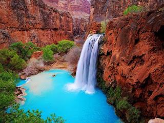 الشلالات بالطبيعة الخضراء الأجمل العالم