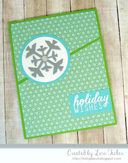 Holiday Wishes card-designed by Lori Tecler/Inking Aloud-stamps and dies from Reverse Confetti