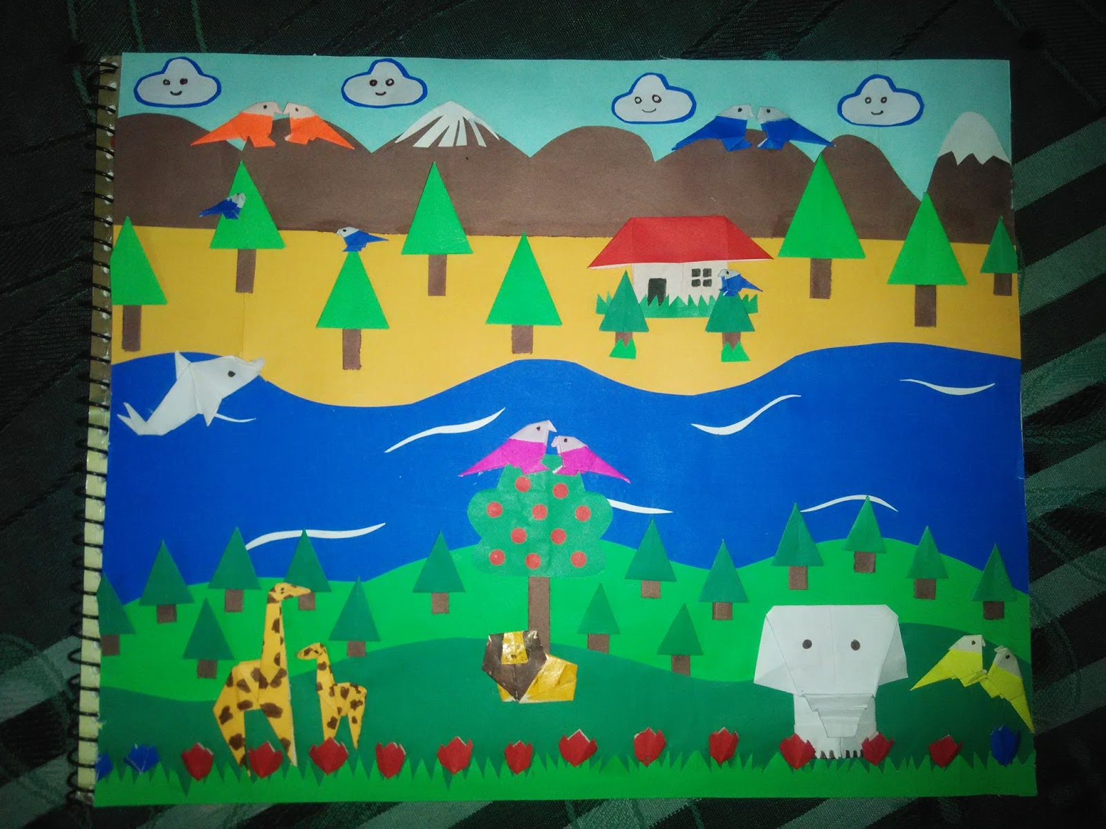 Paper Craft Ideas Beautiful Scenery With Paper Folding