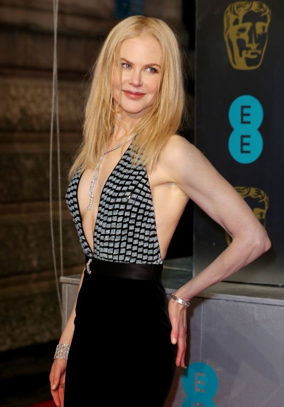 Nicole Kidman Wears Dangerously Plunging Gown To The 2017