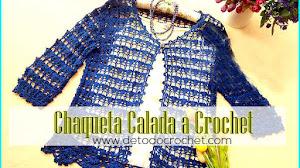 Chaqueta Calada tejida a Crochet / Patrones