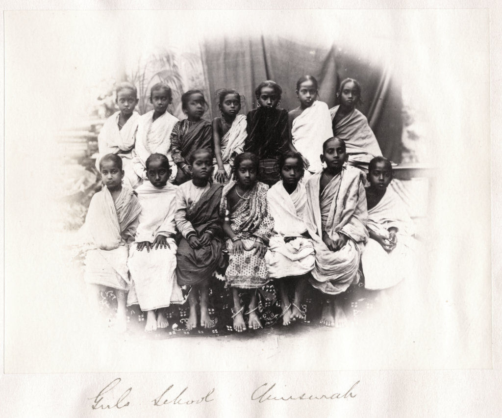 Group Photo of Indian School Girls - Circa 1880's