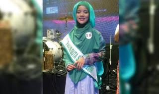 Santriwati Cantik Aceh ini Terpilih Sebagai Duta Santri Nasional Favorit 2016
