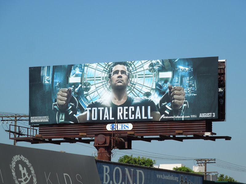 Colin Farrell Total Recall remake billboard